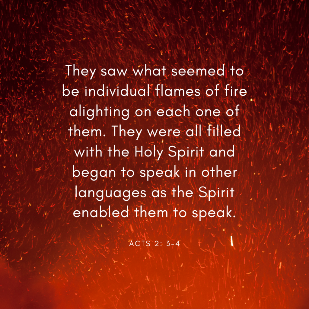 Acts 2: 3-4